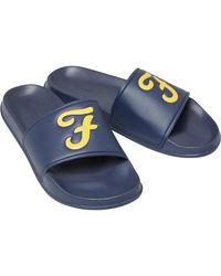 Farah Carta Slides Navy - Blue