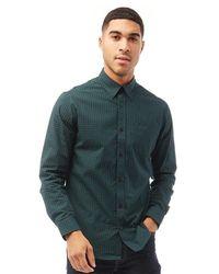 Ben Sherman Long Sleeve 4mm Gingham Shirt Green