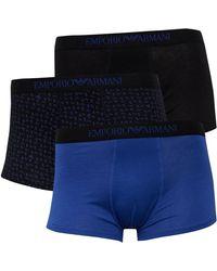 Emporio Armani Boxershort Blauw