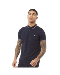 Weekend Offender Forty Thieves Twin Tipped Polo Navy - Blue