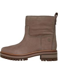 Timberland Courmayeur Faux Fur Lined Boots Taupe Grey - Brown