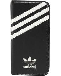 adidas Originals - Basic Logo Booklet Samsung Galaxy S6 Case Black/white - Lyst
