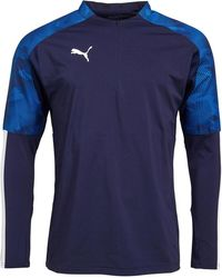 PUMA Cup 1/4 Zip Training Top mit langem Arm Navy - Blau