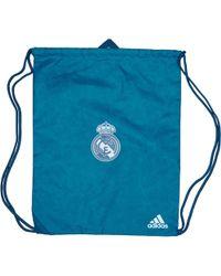 adidas - Rmcf Real Madrid Third Gym Bag Solid Grey/vivid Teal - Lyst