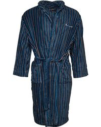 Ben Sherman Bayo Stripe Robe Blue/navy