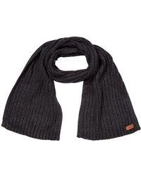 UGG Diagonal Ribbed Stripe Scarf Charcoal - Black