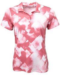PUMA Polo de Golf Soft Geometric Drycell Rose