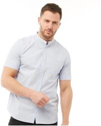 French Connection - Plain Henley Short Sleeve Shirt Sky - Lyst