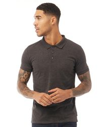 French Connection Jersey Polo Charcoal Melange - Grey