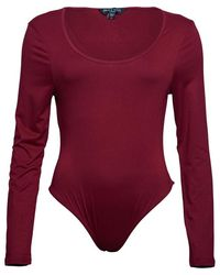 Brave Soul Body Jada Leotard Baie - Rouge