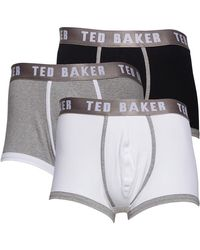Ted Baker Guavas Three Pack Plain Boxers Assorted - Grey