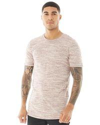 Jack & Jones Hugo Melange T-shirt Kastanjebruin - Meerkleurig