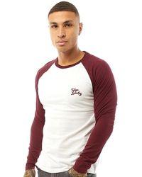 Tokyo Laundry Oron T-Shirt Burgunderrot - Mehrfarbig