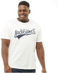 Jack & Jones - Originals Plus Size Mills Big Crew Neck T-shirt White - Lyst