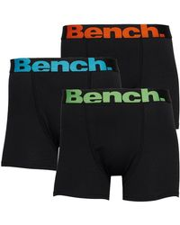 Bench Newham Three Pack Boxer Trunks Black