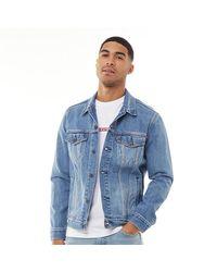 Levi's Veste en jean The Trucker Délavé Beige - Bleu