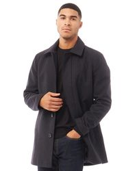 French Connection Single Breasted Collar Wool Jacket Marine - Blue