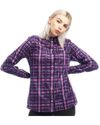 Fred Perry Tartan Shirt Bold Pink - Purple