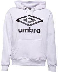 Umbro Active Style Large Logo Hoodie White/black