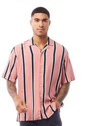Jack & Jones Teddy Short Sleeve Shirt Rosette - Pink