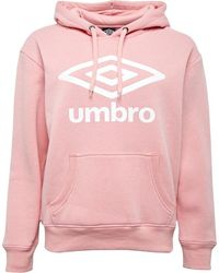Umbro Active Style Large Logo Hoodie Pale Pink/white