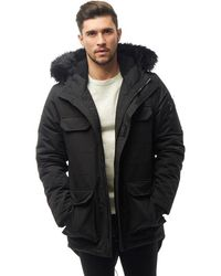 Bellfield Nimrod Fur Lined Parka Black