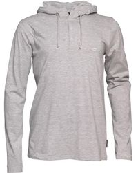 French Connection - Sneazy Hoody Light Grey Melange - Lyst