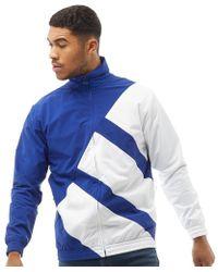 adidas originali eqt superstar audace traccia giacca in bianco per gli uomini lyst
