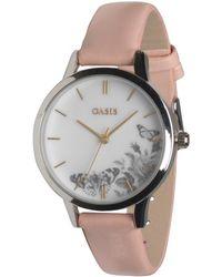 Oasis - Patterned Face Quartz Watch Pink - Lyst