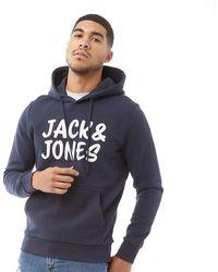 Jack & Jones Corp Hoodie Marineblauw