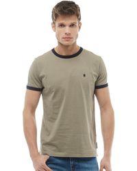 French Connection - Fcuk Ringer T-shirt Light Khaki/marine - Lyst