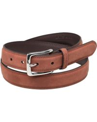 Ben Sherman - Classic Twin Stitch Belt Rust - Lyst