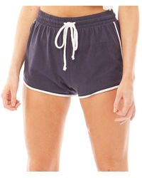 Brave Soul - Lillian Running Style Shorts Navy/white - Lyst