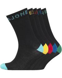 Jack & Jones - Solid Five Pack Socks Black - Lyst