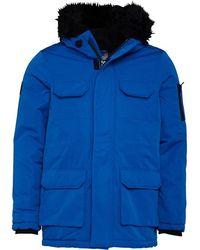 Bellfield Nimrod Fur Lined Parka Cobalt - Blue