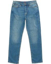 Crew Straight Fit Jeans Reg Leg Mid Wash - Blue