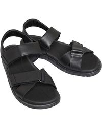 Clarks Unwilmore Band Sandals Black Leather