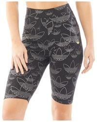 adidas Originals - Allover Print Shorts Black - Lyst