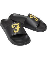 Farah Carta Slides Black