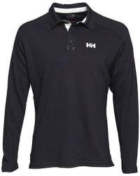 Helly Hansen - Hp Shore Rugger Long Sleeve Polo Navy - Lyst