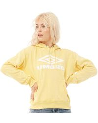 Umbro Projects Classic Over The Head Hoodie Sunshine/white - Yellow
