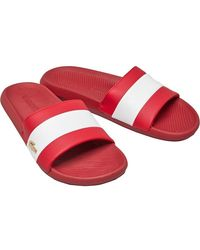 Lacoste Croco Slides Sandalen Rood
