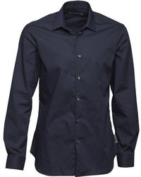 French Connection - Formal Printed Cut Shirt Marine/white Dot - Lyst