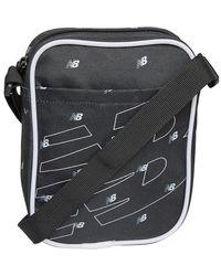 New Balance Unisex Logo Classic Cross Body Bag Black Aop