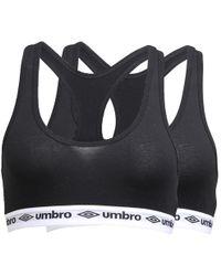 1a02535f18 Umbro - Two Pack Bra Tops Black black - Lyst