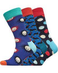 Happy Socks Chaussettes Waterfall Multicolore - Bleu