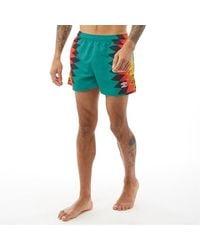Umbro Seig Swim Shorts Porcelain Multi - Green