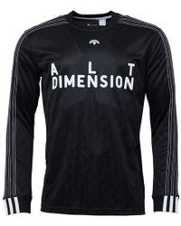 adidas Originals - X Alexander Wang Long Sleeve Soccer Jersey Black/white - Lyst