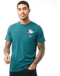 Jack & Jones Originals Xmas Pocket T-shirt Deep Teal - Green