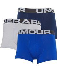 Under Armour Boxer Charged Cotton 3 Inch Boxerjock Bleu Vif